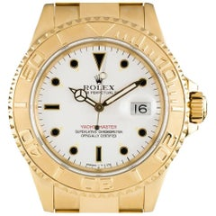 Rolex Yacht-Master Gents Gold White Dial 16628 Automatic Wristwatch