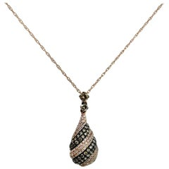 Champagnge Diamond Pendant Necklace