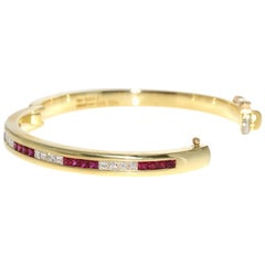 Tiffany & Co. Ruby and Diamond Bangle