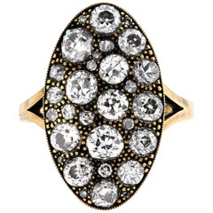 Moval Shaped Cobblestone Ring