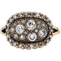 Cobblestone Diamond Surround Ring