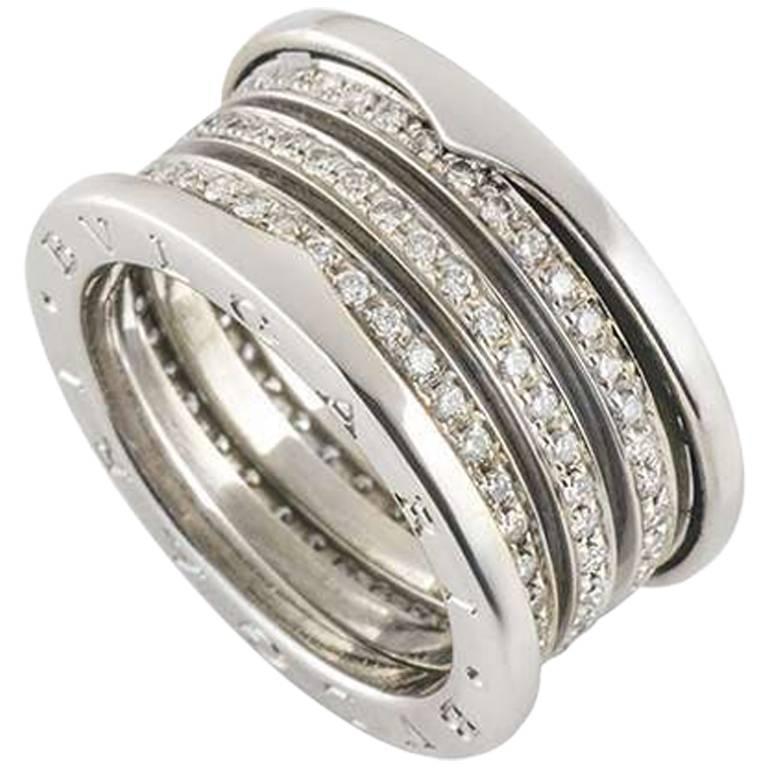 Bulgari White Gold Diamond B.Zero1 Ring