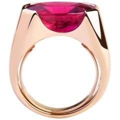 8.58 Carat Rubelite Valadier Ring