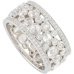 Tiffany & Co. Platinum Cobblestone Diamond Band Ring