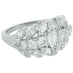Art Deco .45 Carat Diamond Engagement Wedding Band Platinum