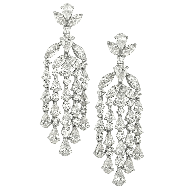 Diamond Chandelier Earrings in Platinum