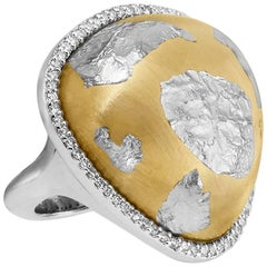 Soho, Designed Sterling Silver Ring with Gold Overlay