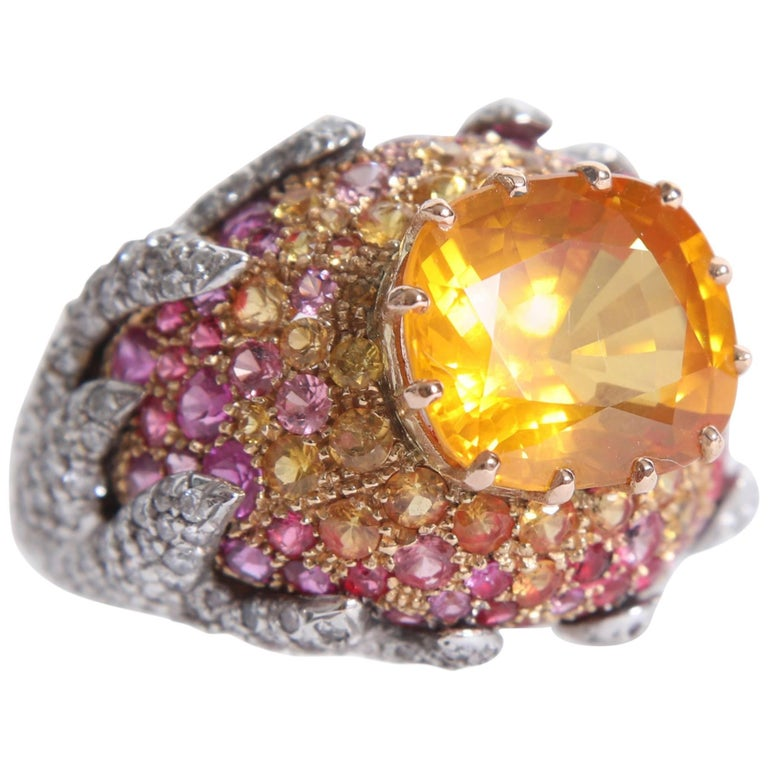 Yellow Sapphire Ring by Marion Jeantet