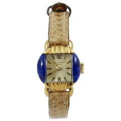 Gold and Lapis Lazuli Patek Philippe Ladies Watch, circa 1950s