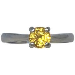 Vivid Ceylon Sapphire 0.65 Carat Platinum Solitaire 'Tiffany Style' Ring 950
