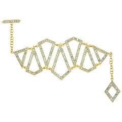 Lauren Harper 7.6 Carat Aquamarine, 18 Karat Gold Statement Bracelet
