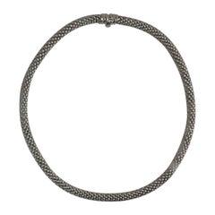 Fope 18 Karat White Gold Tubular Necklace