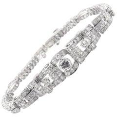 Platinum Handmade Diamond Bracelet