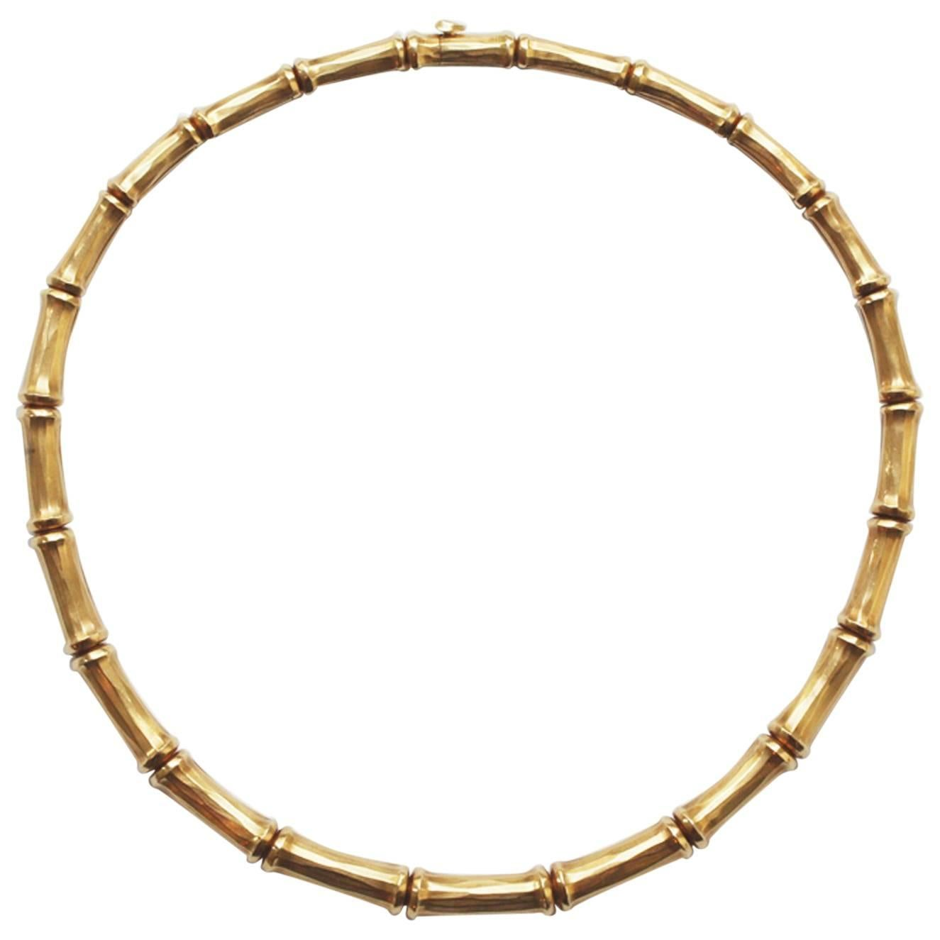 Cartier Gold Bamboo Necklace