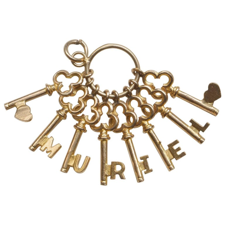 Muriel Name Gold Charm For Sale