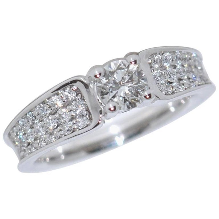 White Diamonds and White Gold 18 Carat Engagement Ring
