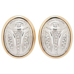 Colleen B. Rosenblat White and Rose Gold Scarab Studs