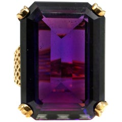 Retro 28 Carat Amethyst Gold Ring