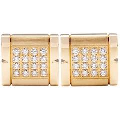 Cartier Diamond Tank Francaise Cufflinks