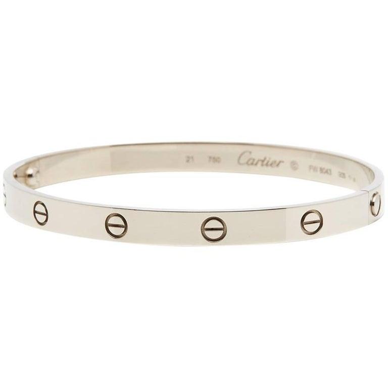 Cartier White Gold Love Bangle