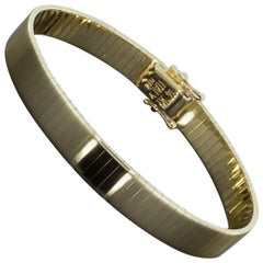 14 Karat Yellow Gold Omega Bracelet