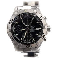 Tag Heuer Stainless Steel 2000 Aquaracer Chronograph Analog Wristwatch