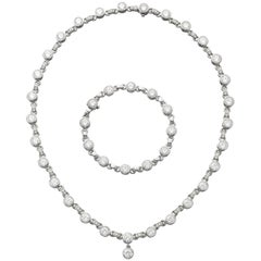 Roberto Coin Bezel-Set Diamond Necklace and Bracelet Set