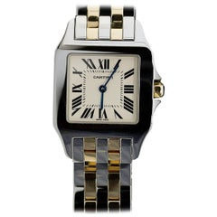 Cartier Ladies Yellow Gold Stainless Steel Santos Demoiselle quartz Wristwatch