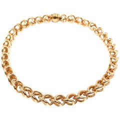18 Karat Yellow Gold Open Link Necklace