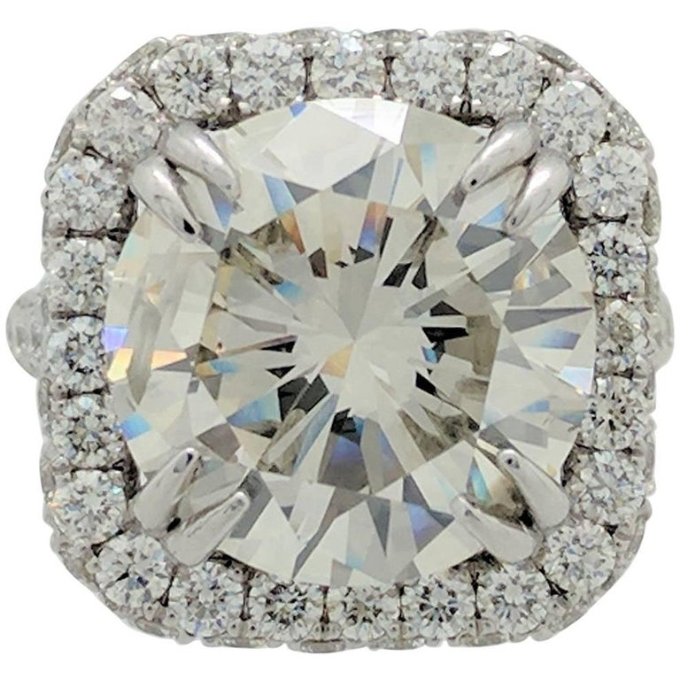 GIA 10.02ct Natural Round Diamond Engagement Ring Platinum Setting 3.60cts