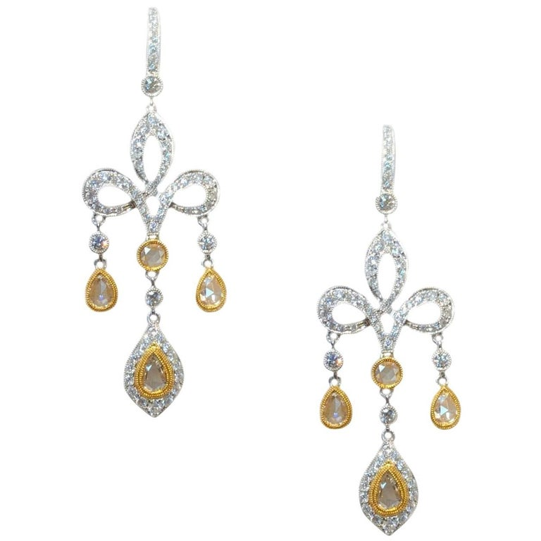 2.62 Carat Diamond Dangle Earrings