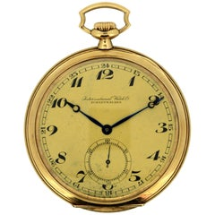 International Watch Co 'IWC', 14 Karat Gold Pocket Watch, circa 1930s