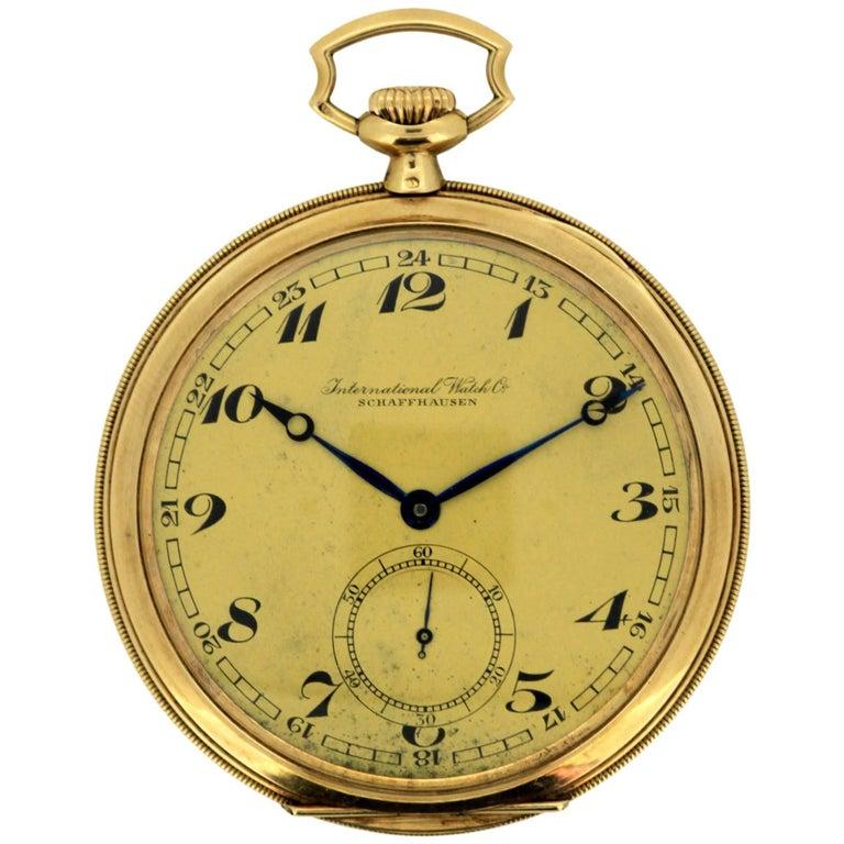 International Watch Co 'IWC', 14 Karat Gold Pocket Watch, circa 1930s
