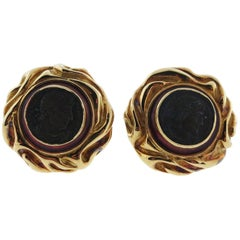 Elizabeth Gage Coin Earrings, circa 1994