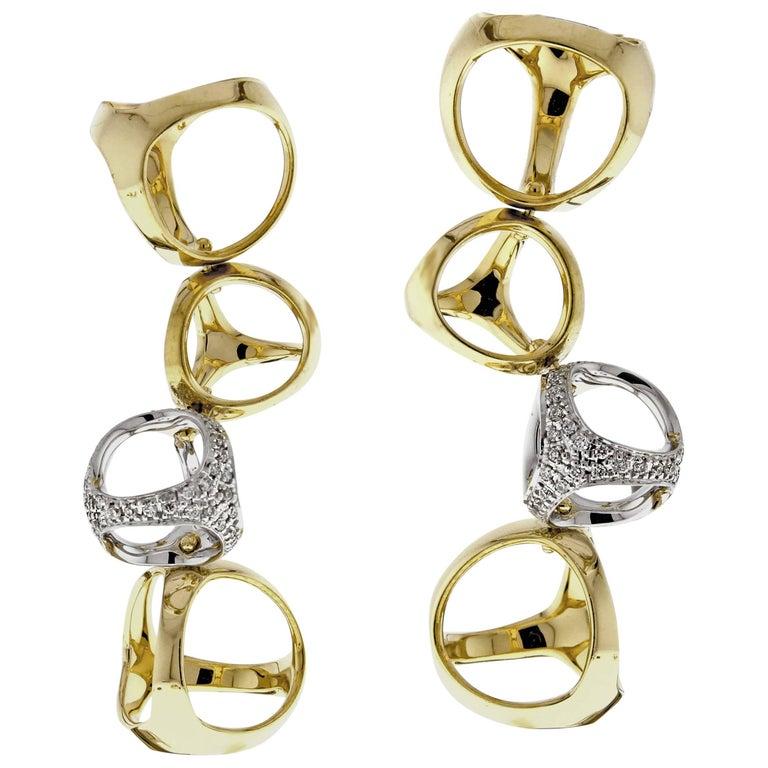 Di Modolo Triadra Four Cage Diamond Earrings For