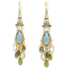 Anthony Nak Tourmaline Drop Earring