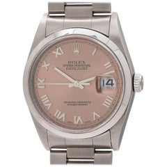 Rolex Stainless Steel Datejust Salmon Dial Self winding Wristwatch, circa 1999