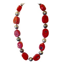 Michael Kneebone Coral Slice Baroque Tahitian Pearl Necklace