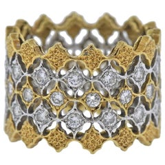 Mario Buccellati Diamond Gold Wedding Band Ring
