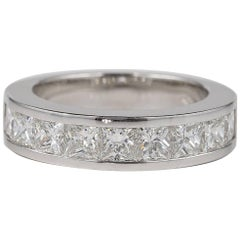 3.28 Carat Princess Diamond FG IF VVS Eternity Ring