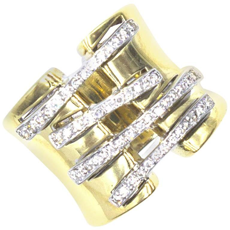 band gold filigree bands lace wide pin infinity ring