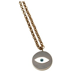 Clarissa Bronfman 14k Gold and Ebony 'Evil Eye' Pendant