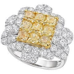 Gilin Illusion Yellow and Diamond Ring