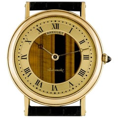 Breguet Gold Champagne Tigers Eye Dial Classique Gents 1527 Automatic Wristwatch