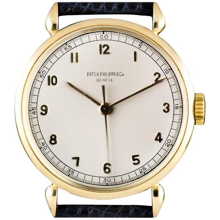 Patek Philippe Yellow Gold Vintage Calatrava Manual Wristwatch