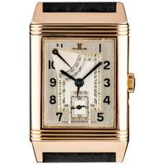 Jaeger LeCoultre 60th Anniversary Reverso Rose Gold Silver Dial ManualWind Watch