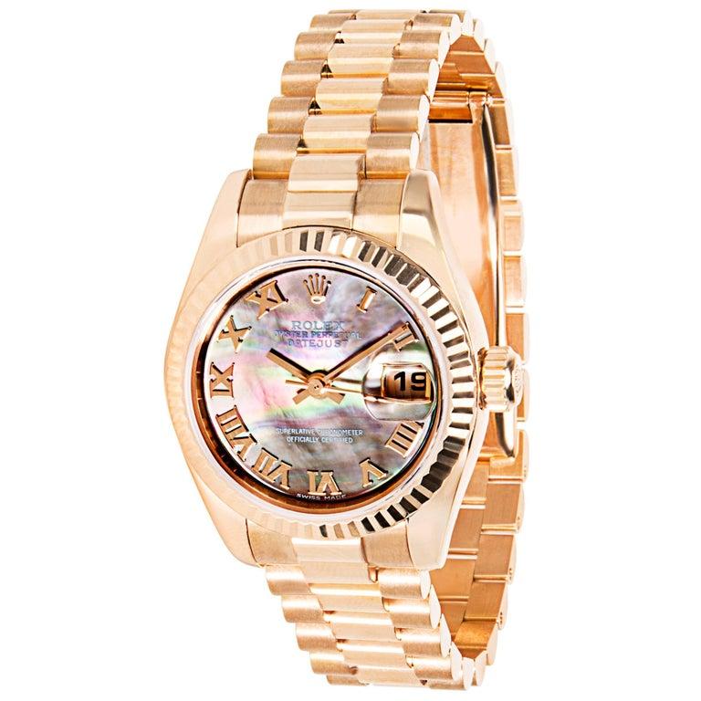 Rolex Datejust 179175 Ladies Chronometer Watch in Rose Gold
