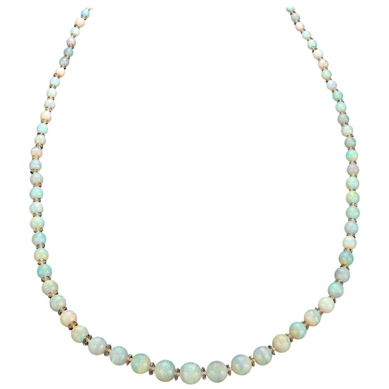 Opal and Rock Crystal Necklace