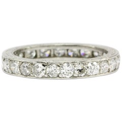 Art Deco Platinum .80 CT Diamond Eternity Band