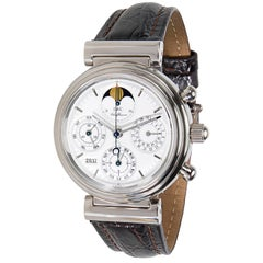 IWC Da Vinci 3750 Moon Phase Men's Chronograph Watch in Gold